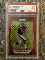 2017 Prizm Dalvin Cook Rookie RC RED POWER PSA 9 Mint 07/49 Low Pop