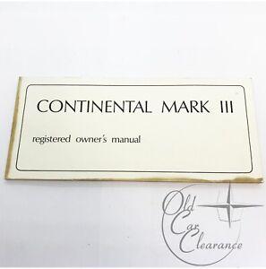 1969 Lincoln Mark III Glove Box Owners Manual (LM36912MK69)