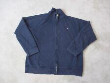 Vintage Ralph Lauren Polo Jeans Sweater Adult Large Blue Full Zip Flag Mens 90s