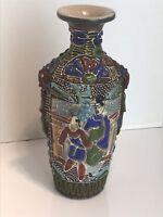 Antique Japanese Satsuma Moriage Vase