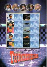 RARE Thunderbirds Stamp Sheet Signed By Gerry Anderson