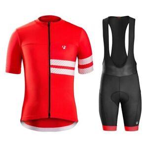 Men Cycling Jersey Set Short Sleeve Men Cycling Jersey And Bib Short Set