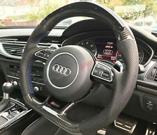 Audi RS4 RS6 RS7 B8 C7 4G LED Carbon Fibre Steering Wheel - Customisable Options