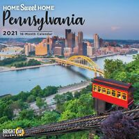 2021 Home Sweet Home Pennsylvania 12 x 12 Wall Calendar Travel PA