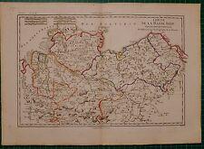 1788 DATED RIGOBERT BONNE MAP ~ CIRCLE OF THE LOWER SAXON NORTHERN PART
