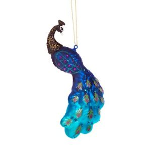 Sass & Belle Swooping Tail Peacock 3D Bauble Hanging Decoration Christmas Tree