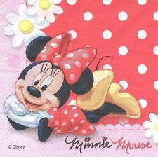 2 Serviettes en papier Minnie Mouse Mickey Disney Paper Napkins