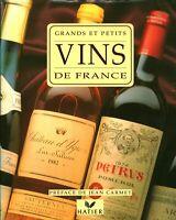 Livre grands et petits vins de France F Collombet JP Paireault éditions Hatier
