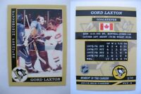 2015 SCA Gord Laxton Pittsburgh Penguins goalie never issued produced #d/10