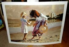 """Aldo Luongo Color Giclee """"A Day at the Beach"""" Signed by Artist A/P 20/24"""