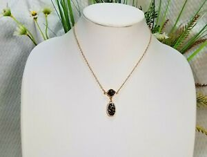 Signed AVON's NWT Modern Glimmer Faux Druzy Stones Pendant Necklace