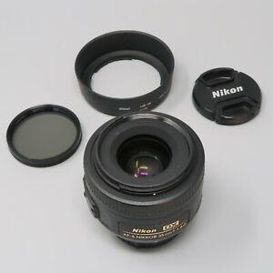 Nikon NIKKOR AF-S 35mm DX f/1.8 Prime Lens - Plus Hood & Filter!