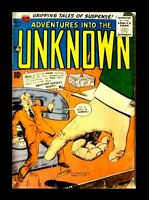 ADVENTURES INTO THE UNKNOWN #76, 1956, SILVER AGE, VINTAGE ACG COMIC