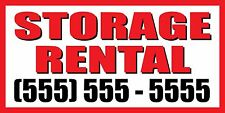 3'x6' STORAGE FOR RENT CUSTOM NUMBER Sign Vinyl Banner rental
