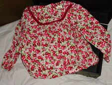 Gymboree Cozy Owl Shirt 4 4T Ivory White Red Green Flowers Floral
