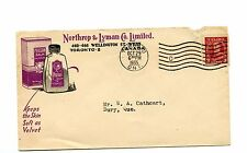 3c coil 1935 issue Northrop Lyman  advertising cover Canada