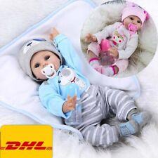 Reborn Baby Puppe Lebensecht Handgefertigt Weich Silikon-Vinyl Mädchen Junge