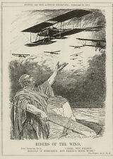WW1 WWI Original Cartoon Punch 1915 British Royal Flying Corps Naval Air Service