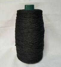 Spool Cone Rayon Weaving Loom Yarn Black