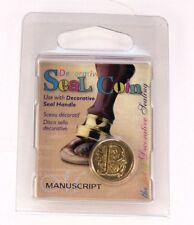 Manuscript Decorative Wax Sealing 18mm Coin Seal - Initial B