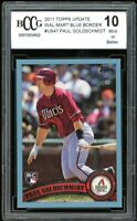 2011 Topps Update Wal-Mart Blue #US47 Paul Goldschmidt Rookie BGS BCCG 10 Mint+