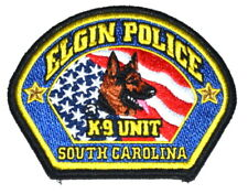 ELGIN – K-9 UNIT – SOUTH CAROLINA SC Sheriff Police Patch CANINE DOG SHEPHERD ~