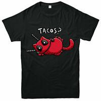 Tacos? Funny Deadpool T-Shirt, Cat Spoof Marvel Comics Adult & Kids Tee Top