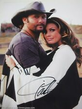 TIM McGRAW - FAITH HILL  DOUBLE SIGNED PHOTO