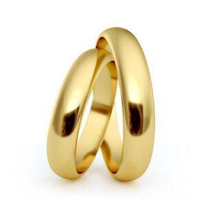 AURITUM 1 Paar Trauringe, Eheringe aus Gold 333/585/750, 4mm, Gravur