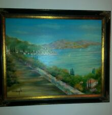 Dom mingolla original oil painting on canvas stunning colors signed