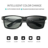 Aluminium HD Polarized Photochromic Sunglasses Men Chameleon Outdoor Eyewear