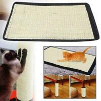 1*Pet Cat Sisal Scratch Board Mat Scratching Post Toy Protector Furniture O S4K4