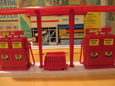 motorific slot car SERVICE CENTER playset IDEAL Toy GAS STATION w/ BOX & PAPERS