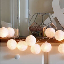3.5M 20LED Warm White Cotton Ball LED String Christmas Wedding Party Fairy Light