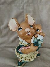 "Vintage Pendelfin Mother & Baby (985074) 6.5"" x 4.5"" x 5.5"" Very Good Condition"