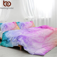 3 Pieces Set Marble Printed Comforter / Duvet Cover Queen King Bedding Quilt Set