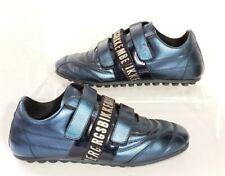 Bikkembergs Soccer Sneaker Metallic Blue Leather Hook Loop Size 39 US 6.5