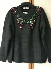 ZARA OVERSIZED SEQUINNED SWEATER OVERSIZED SIZE S 10 12
