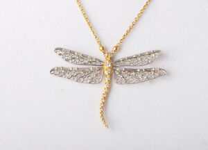Paul Morelli 18kt Yellow & White Gold Dragon Fly Necklace