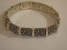 MICHAEL DAWKINS STERLING STARRY NIGHT LINK BRACELET NEW 7 3/4 INCH