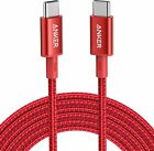 Anker 10ft New Nylon USB C to USB C Cable 2.0 100W Charging for Mac iPad Galaxy