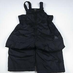 ZEROXPOSURE BOY'S BIB SNOW PANTS - SOLID BLACK - SIZE L - 7