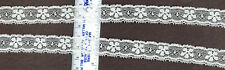 Vintage Cotton lace Trim 0.75 inches  wide white 8yds   (B 51)
