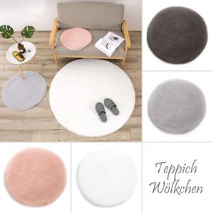 Kunstfell-Teppich Kurz-Fell-Imitat   Bettvorleger Wohnzimmer Schlafzimmer   Rund
