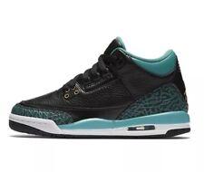 NEW Sz 7Y Air Jordan Retro 3 GG Black/Teal Basketball Shoe 441140-018 $140