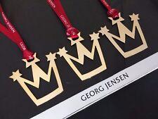 3 Georg Jensen Edición Limitada 2013 Corona De Navidad Decoración Chapado en Oro 24k