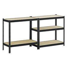 Shelves Storage 4000 lb Capacity Black Rack New Wall Home