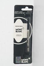 100% ORIGINAL MONT BLANC Ballpoint Refills Fine Point Black Ink #15151 1PK