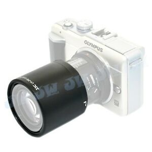 JJC Lens hood Shade for Olympus M.ZUIKO DIGITAL ED 60mm f2.8 Macro Lens as LH-49