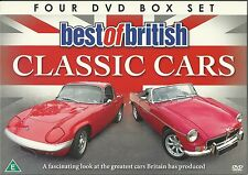 BEST OF BRITISH CLASSIC CARS, 4 DVD BOX SET, TVR, MG, LOTUS SUNBEAM & MORE